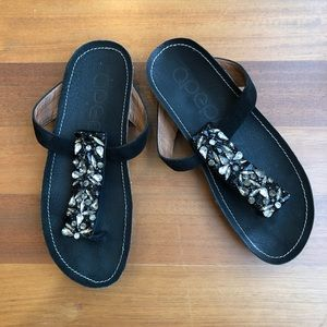 Apepazza Jeweled Thong Sandals